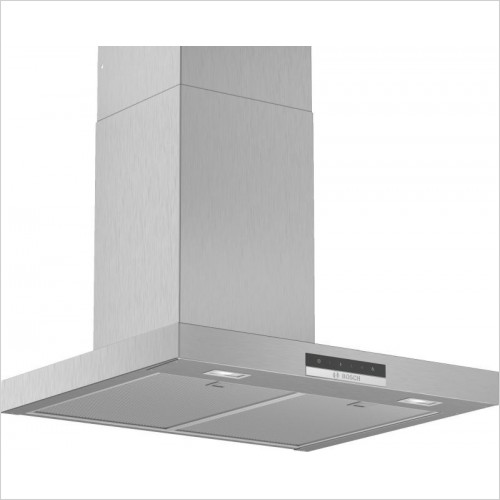 Serie 2 90cm Wide Straight Canopy Cooker Hood