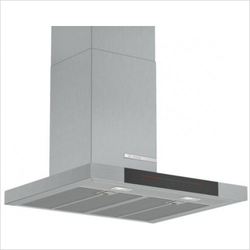 Bosch Built in - Serie 4 90cm Wide Straight Glass Canopy Cooker Hood