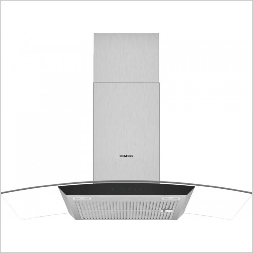 Siemens - iQ300 Curved Glass Chimney Hoods 90cm